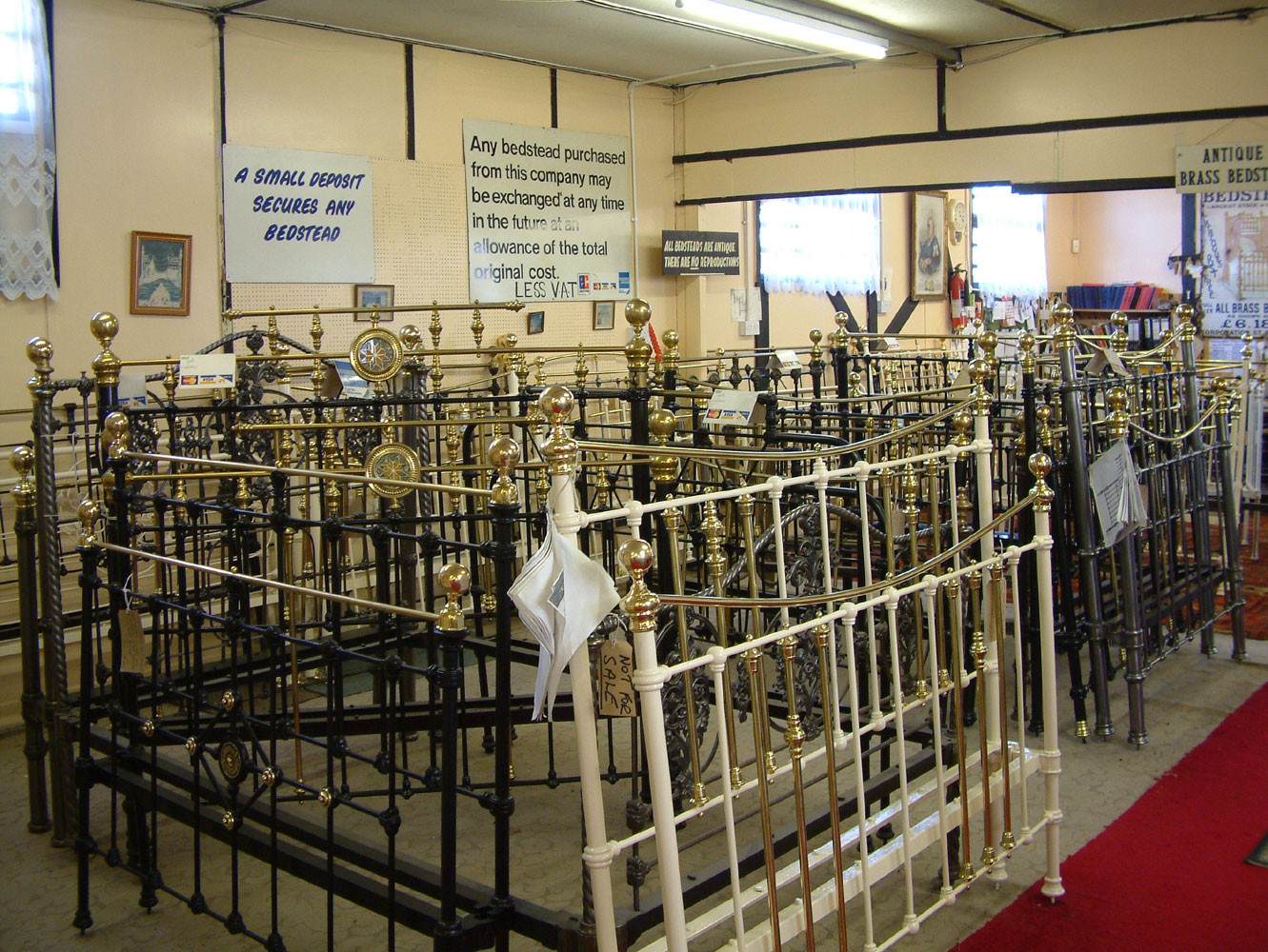 Picture of: Antique Brass Bedsteads
