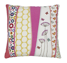 scrapbook springtime cushion