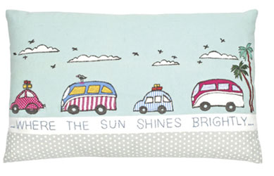 where the sun shines brightly cushion