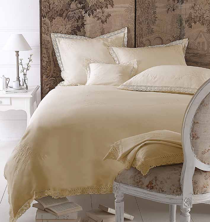 Hummingbird Bed Linen Part - 38: Malage Ecru Lace Duvet Cover