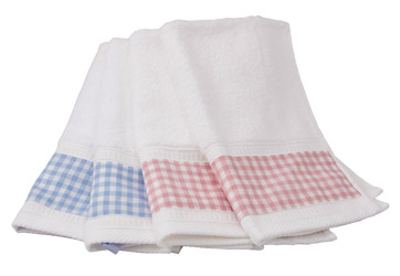 gingham trimmed towels