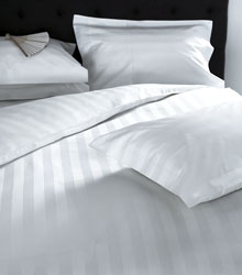 hampstead white satin stripe duvet cover and pillowcases