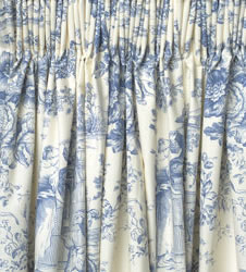 toile de jouy ready made curtains