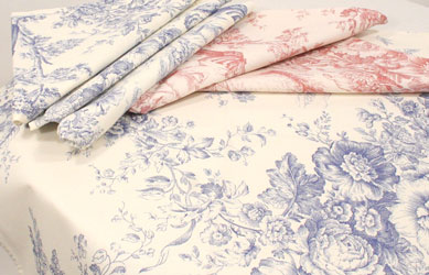 toile de jouy tablecloths