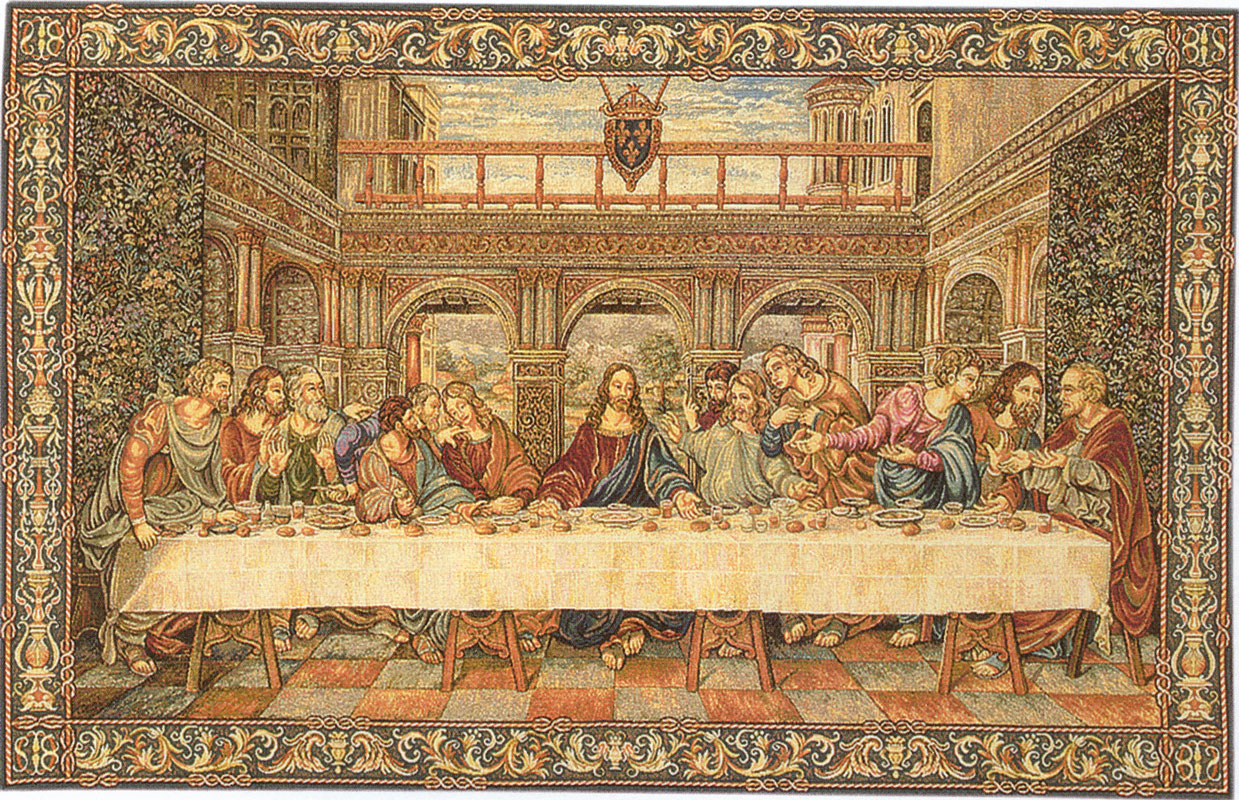 Last Supper Wall Mural Flemish Tapestries And Wall Hangings At Linens Lace And