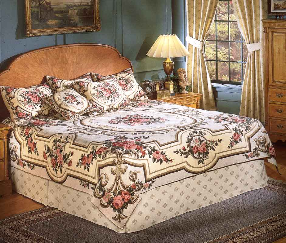 Superior Aubusson Tapestry Bedspread