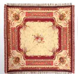 amboise red tapestry bedspread