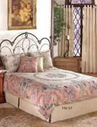 savonnerie 2 pink classic Frenc design in a flemish tapestry bedspread