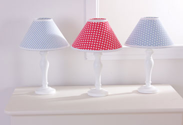 Blue gingham lamp shade car essay baby bedding cot bumpers aloadofball Image collections