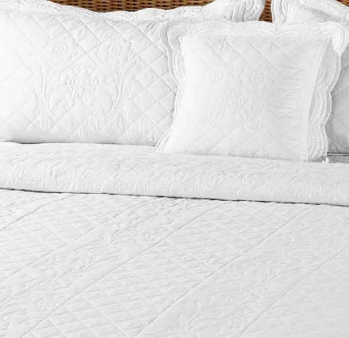 Josephine percale cotton lace embroidered duvet set