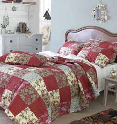 algiers red patchwork quilt