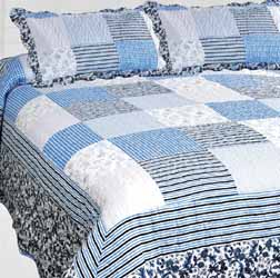 china blue patchwork quilt