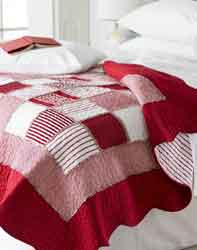 orleans red and white patchwork quilt