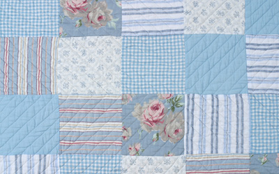 patchwork blue closeup