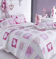 sophia girls pink patchwork quilt