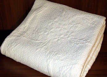 sorrento cream quilted bedspread