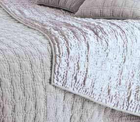 vendome grey velvet bedspread closeup