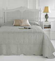victoria taupe quilted bedspread
