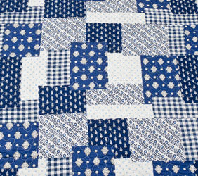 blue anglaise blue and white quilt detail