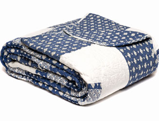 blue anglaise patchwork quilt navy blue and white