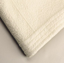 cream paisley quilted cotton bedspread