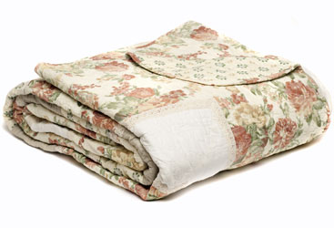 guinevere patchwork quilt in autumnal shades