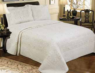 harvard cream quilted bedspread
