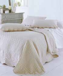 lima oatmeal quilted bedspread
