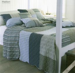 madison blue patchwork quilt
