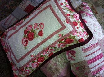 marguerita rose pillow sham