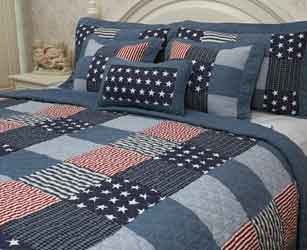 oklahoma stars and stripes patchwork quilt
