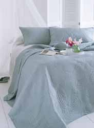 panama duck egg quilted bedspread