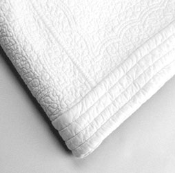 white paisley quilted bedspread