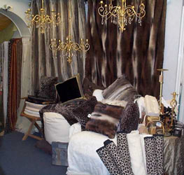range of faux fur throws and cushions