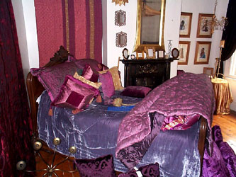 rich aubergines, mauves and purple bedspreads