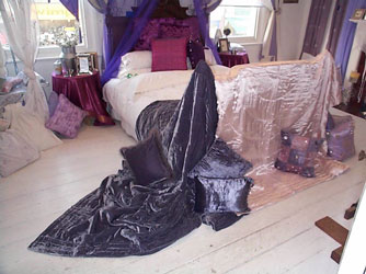 silk velvet and silk satin bedspreads