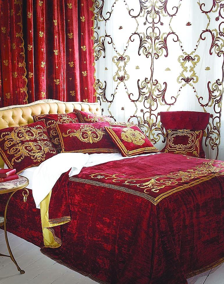 Claret Bedroom King Bed