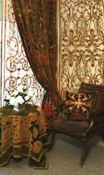 terracotta velvet curtains