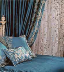 juliet teal silk curtains
