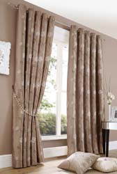 notting hll latte eyelet curtains