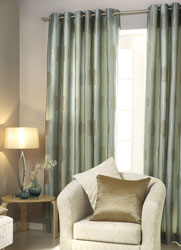 elham curtains shown with eyelet heading