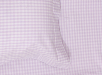 lilac gingham bedlinen for girls