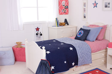stars blue boys duvet covers, bedspreads and cushions