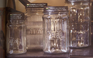retro style kilner glass storage jars