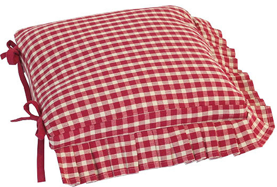 Kitchen Chair Seat Cushion Covers: Chair Seat Pads With Matching Tablecloths And Place Mats