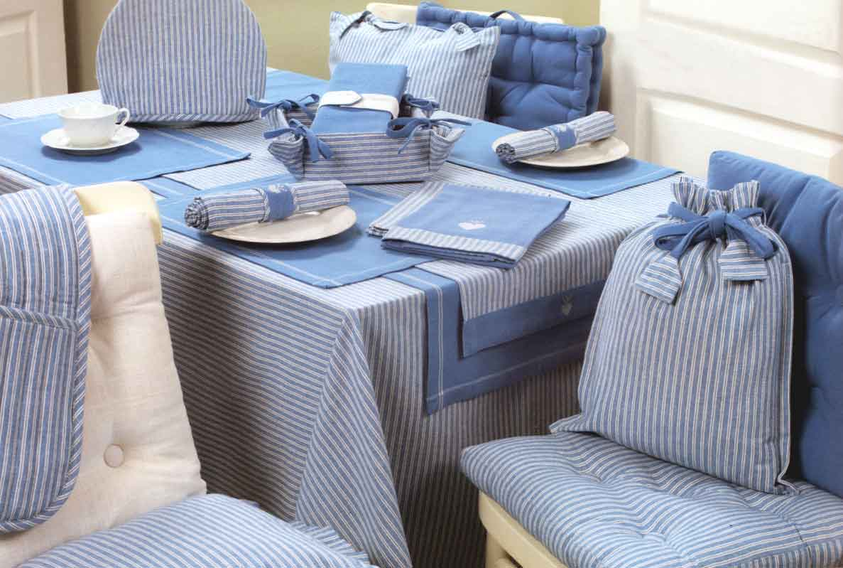 Favorite chair seat pads with matching tablecloths and place mats from  DR65