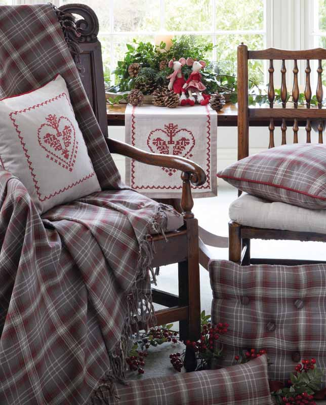 Glencoe Tartan Check Range Of Seat Pads Throws Cushions