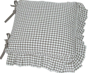 auberge frilled seat cushion cover with ties