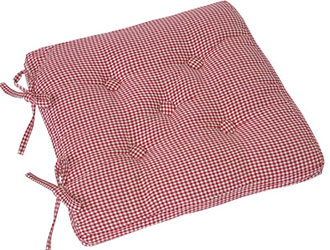 auberge buttoned seat pad red