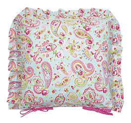 hattie frilled seat cushion cover with ties